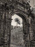 Bassein堡垒门在印度 库存照片