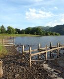 Bassenthwaite湖 图库摄影