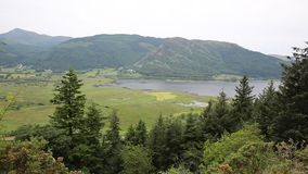 Bassenthwaite de meren dichtbij Keswick Cumbria Engeland het UK stock video