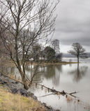 Bassenthwaite Lake. On a very wet and overcast morning royalty free stock photography