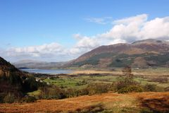 Bassenthwaite Lake and Skiddaw from Whinlatter Royalty Free Stock Image