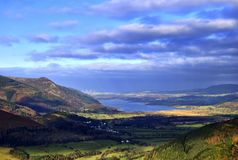 Bassenthwaite Lake & Wind Farm Stock Images