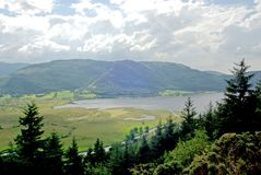 Bassenthwaite Water. View of Lake Bassenthwaite Water in the Lake District, Cumbria England stock image
