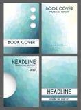Basses poly couvertures de livre financières modernes de rapport Image libre de droits