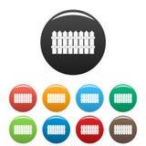Basses vecteur de couleur réglé de barrière par icônes Photos libres de droits