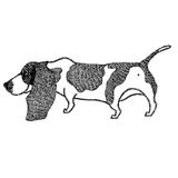 Basset Hound Hand drawing Isolated Object Stock Images