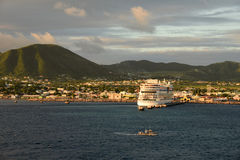 Basseterre, capital of St Kitts and Nevis. Scenic view of Basseterre, capital of St Kitts and Nevis in the Caribbean Royalty Free Stock Photo