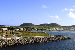 Basseterre harbour in St Kitts Stock Photos