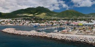 Basseterre, rue Kitts Photo libre de droits