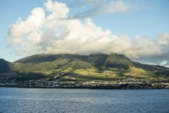 Basseterre, St Kitts and Mount Liamuiga Royalty Free Stock Photography
