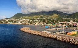 Basseterre Waterfront Royalty Free Stock Photos