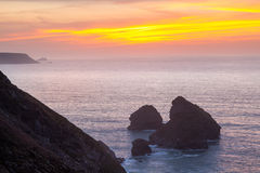 Bassetts Cove North Cliffs Cornwall Stock Image