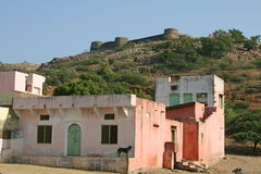 Bassi Fort and village Royalty Free Stock Photos