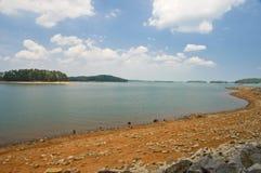 Bassi livelli d'acqua Immagini Stock