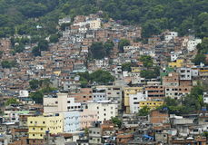 Bassifondi di Favela a Rio de Janerio, Brasile Fotografia Stock Libera da Diritti