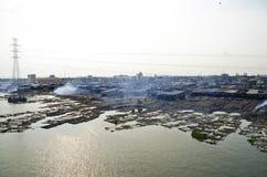 Bassifondi di pesca di Makoko a Lagos immagine stock libera da diritti