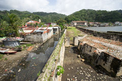 Bassifondi di Portobelo nel Panama Fotografia Stock