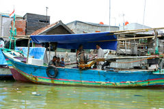 Bassifondi urbani di Jakarta, Java centrale, Indonesia Fotografia Stock