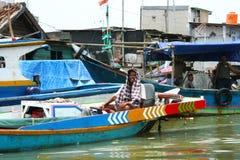 Bassifondi urbani, Jakarta, Indonesia Fotografie Stock