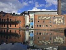 Bassin Birmingham de rue de gaz Photos libres de droits