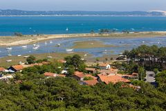 Bassin d'Arcachon landscape in France Royalty Free Stock Photography