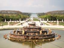 Bassin de凡尔赛宫殿,巴黎,法国Latone  免版税库存照片