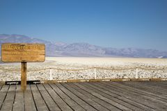 Bassin de Badwater dans Death Valley Image libre de droits