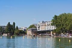 Bassin de la Villette在巴黎的第19 arrondissement 免版税库存图片
