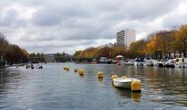 The Bassin de la Villette in Paris city Royalty Free Stock Photo