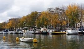 The Bassin de la Villette in Paris city Stock Photos