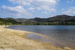 Bassin de saint ferreol. Aude Royalty Free Stock Images