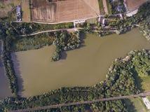 Bassin de Trevoix, Ollainville. Essonne, France stock images
