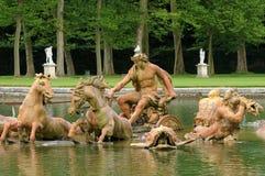 France, Bassin du Char d Apollon in the park of Versailles palac Stock Photos