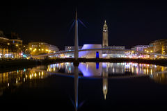 Bassin du commerce by night Stock Photo