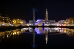Bassin du commerce by night. Bassin du commerce de nuit Stock Photo