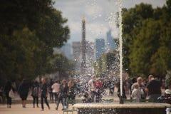 Bassin grand Rond, Obélisque de Louxor, Arc de Triomphe Image libre de droits