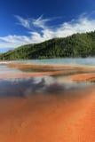 Bassin intermédiaire de geyser Photographie stock