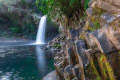 Bassin La Paix瀑布在雷乌尼翁冰岛 免版税库存照片