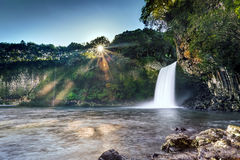 Bassin la Paix waterfall Royalty Free Stock Images