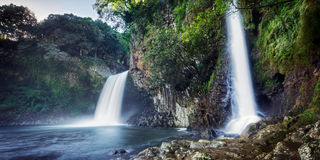 Bassin la Paix waterfall Royalty Free Stock Photos