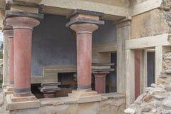 Bassin lustral du nord du palais de Knossos photographie stock