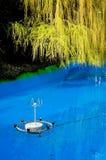 Bassin mit Brunnen Stockfotografie