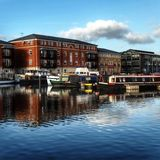Bassin Worcester R-U de canal Image stock