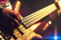 Free Bassist Pop Rock During A Performance At A Concert Stock Images - 98182024
