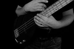 Bassist in Studio Royalty Free Stock Photo