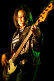 Bassist Woman Royalty Free Stock Photography