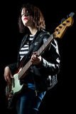 Bassist Woman Royalty Free Stock Images
