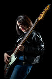 Bassist Woman Stock Photography