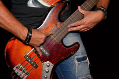 Bassista Fotografie Stock