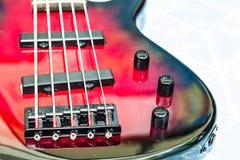 Basso rosso della chitarra Immagini Stock Libere da Diritti